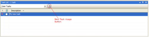 Task List: User Tasks view
