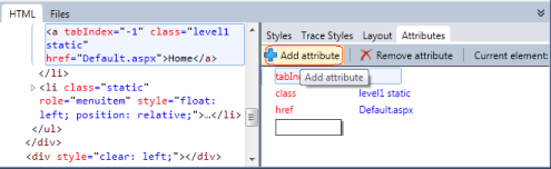 Add/Remove css attribute