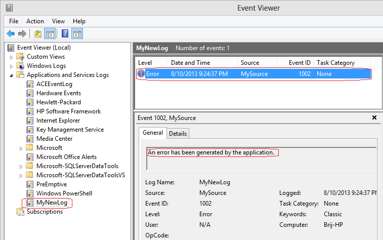 Working with EventViewer using C# | Code Wala