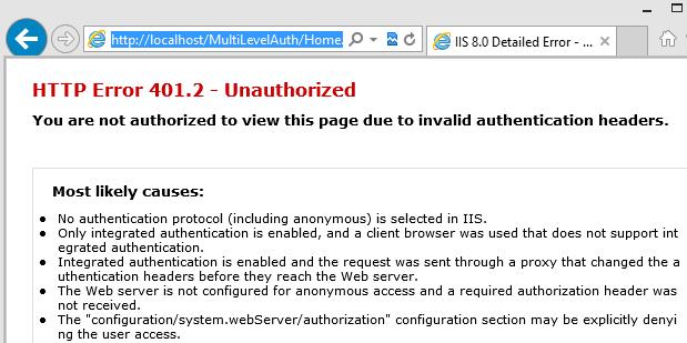 Looking into Windows authentication at Web config and at IIS   Code Wala