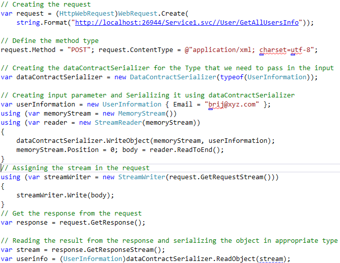 How to consume WCF REST services using C#   Code Wala