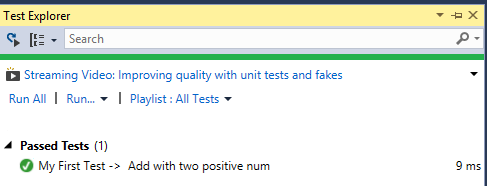 how to create a unit test for index in mvc